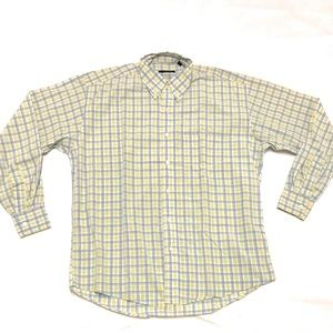 Burberry London Long Sleeve Plaid Button Up Medium